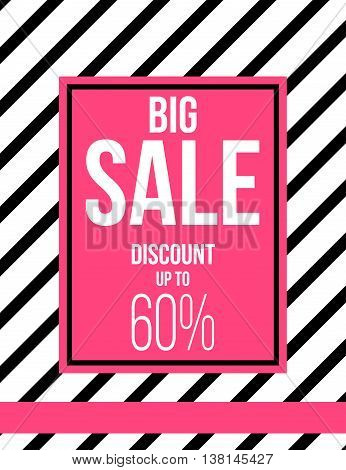 Black and pink fashion sale poster design