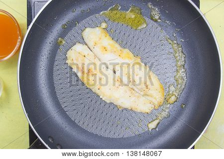 cooking dory fish Steak / cooking steak concept