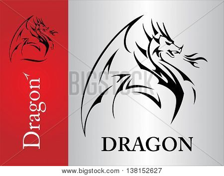 Dragon Dragon sketch spreading its wing. Dragon with the flame from the mouth. Shooter Dragon. Dragon with Fire. Attacking Dragon. symbolizing power protection dignity wisdom etc.