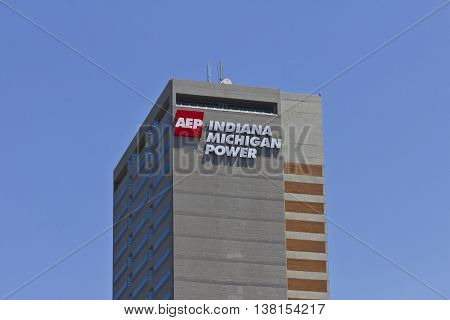 Ft. Wayne IN - Circa July 2016: Indiana Michigan Power Center Headquarters of Indiana Michigan Power a Division of American Electric Power (AEP)