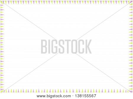 Creative artistic carnival or birthday frame copy space background