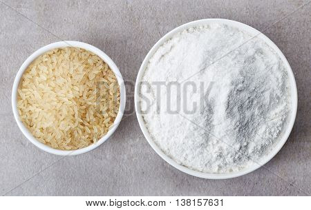 Rice Flour And Rice