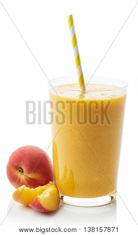 Glass Of Peach Smoothie