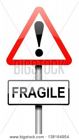 Fragile Sign Concept.