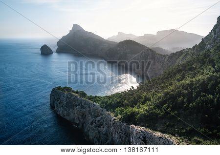 Viewpoint to Cap de Formentor Mallorca Spain