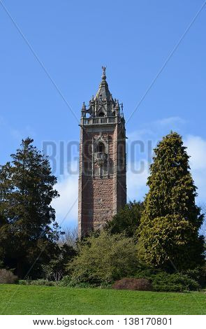 Cabot Tower in Brandon Hill, Bristol, South West England