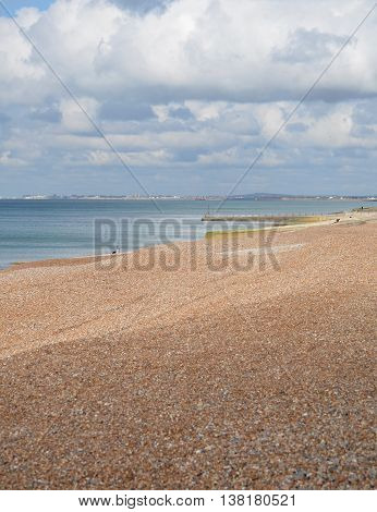 Brighton and Hove Beach, England taken in April