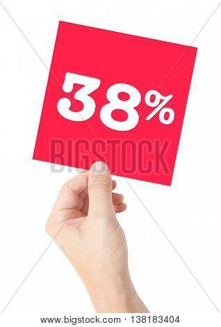 38 percent on white
