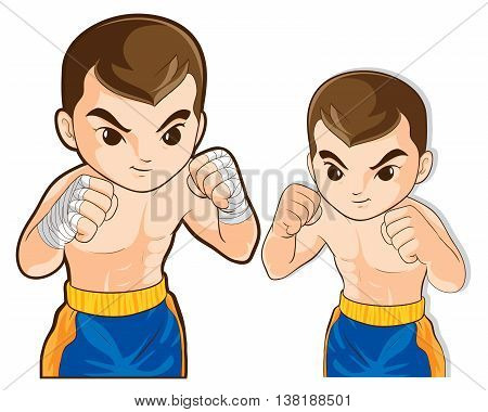 vector of boxing msn guard for fighting actions practice