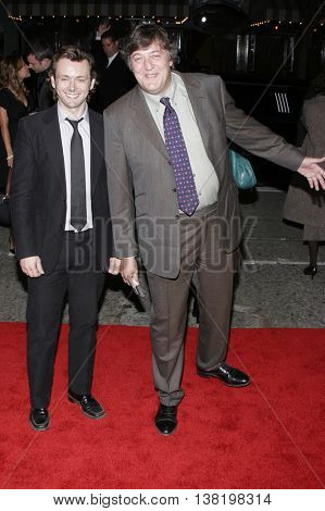 Stephen Fry at the Los Angeles premiere of 'Stranger Than Fiction' held at the Mann Village Theatre in Westwood, USA on October 30, 2006.