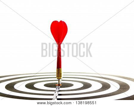 Darts arrows in the target center target dart with arrow isolated on white background abstract background to target marketing or target arrow concept