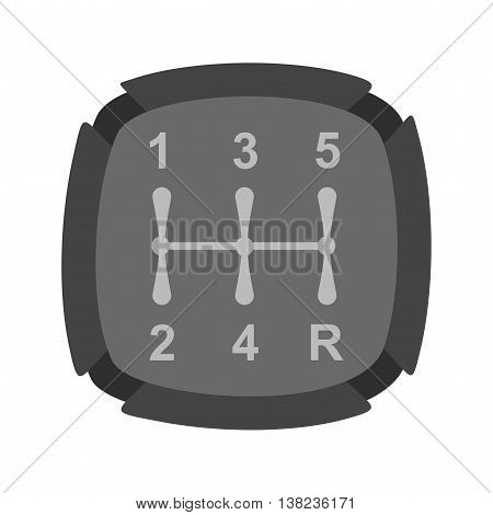 Gear, car, shifter icon vector image. Can also be used for car servicing. Suitable for use on web apps, mobile apps and print media.