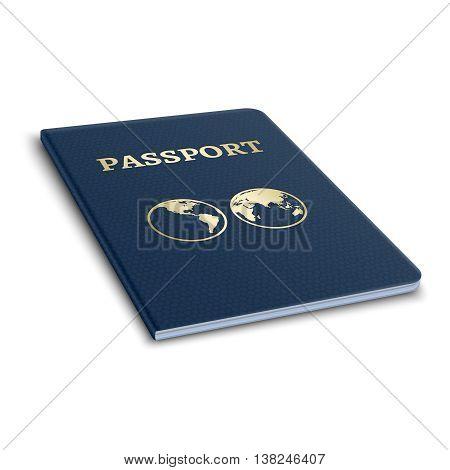 Vector international passport. 3D illustration. National passport and official document passport