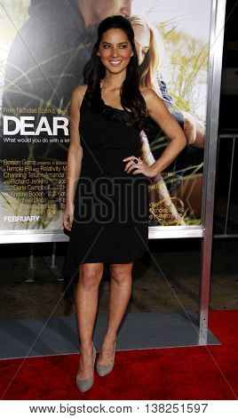Olivia Munn at the World premiere of 'Dear John' held at the Grauman's Chinese Theater in Hollywood, USA on February 1, 2010.