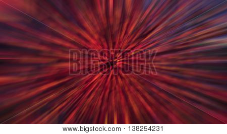 Abstract background made of blurred colorful mostly red lights.