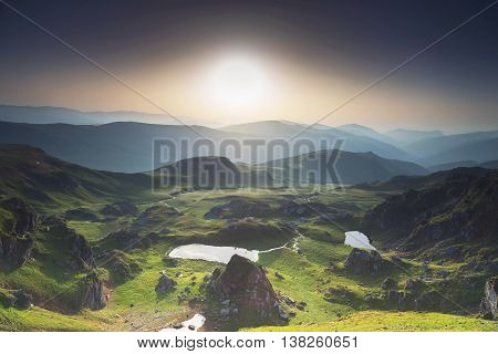 Mountain summer landscape / View from Transalpina highway