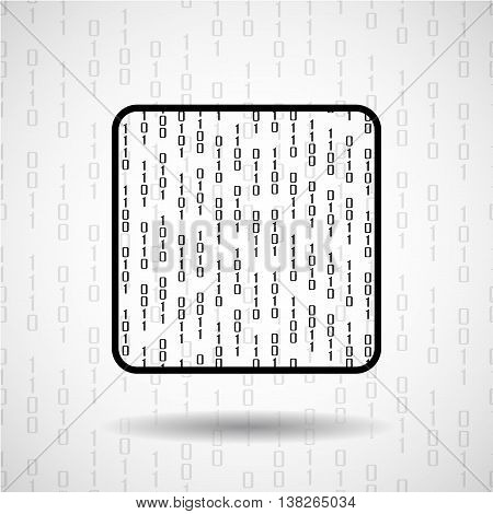 Abstract microprocessor with binary computer code, cpu icon