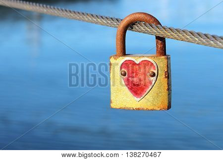 Padlock With Red Heart