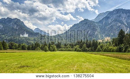 An image of the Palace Neuschwanstein and Hohenschwangau in Bavaria Germany