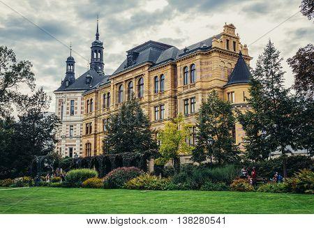 Pilsen Czech Republic - October 3 2015. Building of West Bohemia Museum in Pilsen