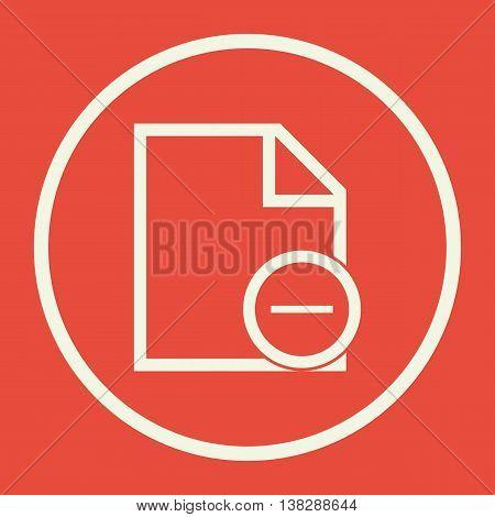 File Remove Icon In Vector Format. Premium Quality File Remove Symbol. Web Graphic File Remove Sign