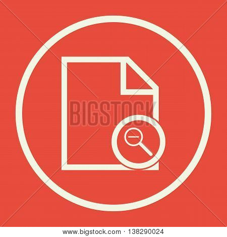 File Zoom Out Icon In Vector Format. Premium Quality File Zoom Out Symbol. Web Graphic File Zoom Out