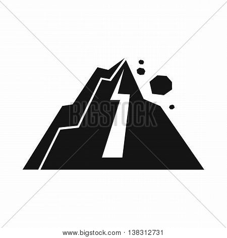 Rockfall icon in simple style isolated vector illustration