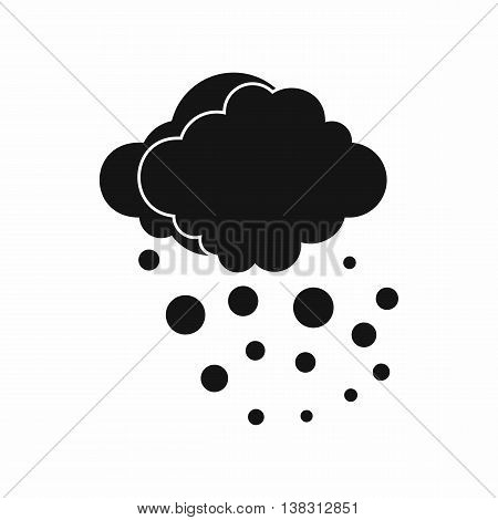 Cloud with hail icon in simple style isolated vector illustration