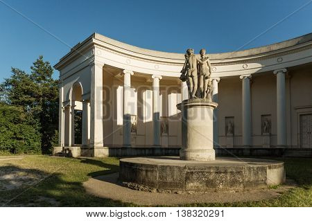 Temple of Three Graces in Lednice south Moravia built between 1824 and 1825 Lednice-Valtice Cultural Landscape - Czech Republic poster