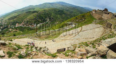 The Amphitheatre of Pergamon Anciet City Panoramic