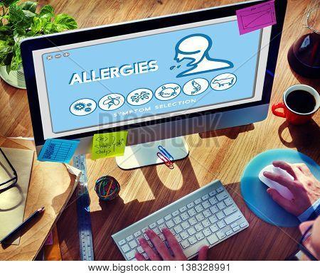Allergy Hypersensitive Sensitivity Healthcare Infection Concept