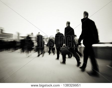 Morning Commuters Of London Concept