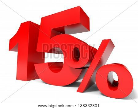 Red Fifteen Percent Off. Discount 15%.