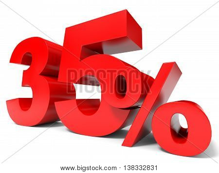 Red Thirty Five Percent Off. Discount 35%.