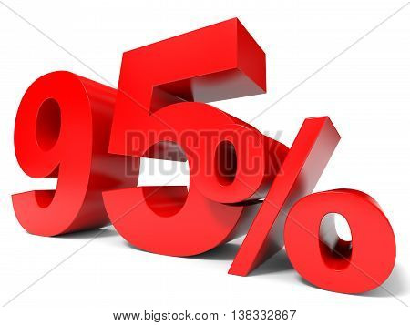 Red Ninety Five Percent Off. Discount 95%.