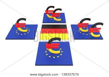 German contribution to the EU 3d illustration