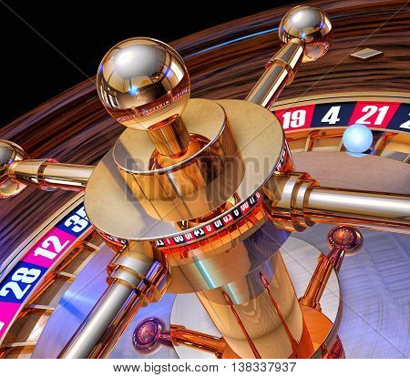 3D rendering of a roulette in a casino