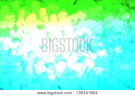 Green blue and white colors used to create abstract background