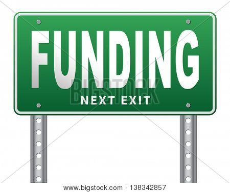 Funding for welfare collection fund raising for charity money donation for non profit organization. 3D illustration, isolated, on white