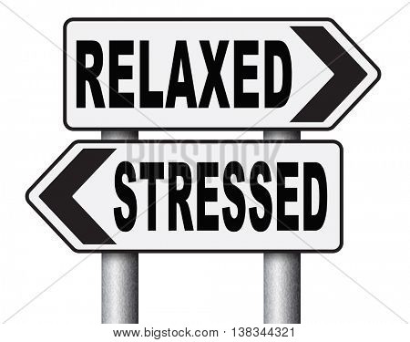 stress therapy and management helps in relaxation reduce tension and relief negativity become relaxed not stressed reduction of negative vibes distressing 3D illustration, isolated, on white poster