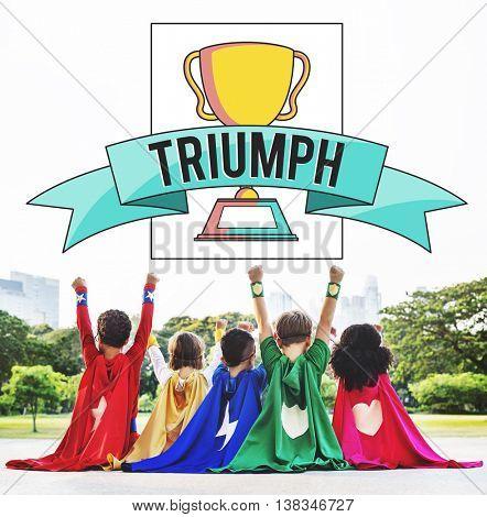 Triumph Achievement Accomplish Accomplishment Success Concept