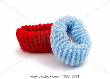scrunchy isolated elastic fashion on white background