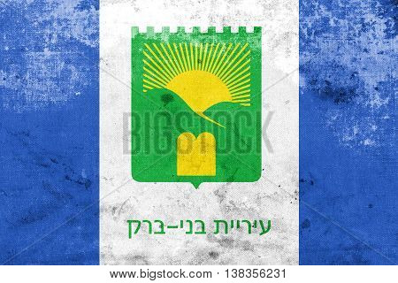 Flag Of Bnei Brak, Israel, With A Vintage And Old Look