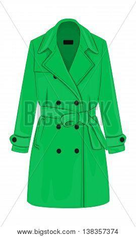 Womens Coat With A Belt