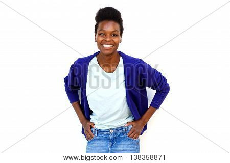Confident Young African Female Model