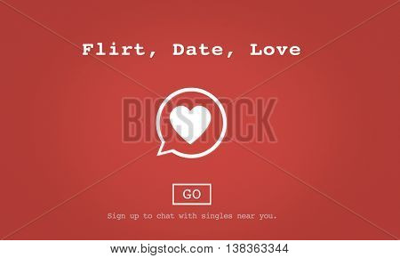Flirt Date Love Valentine Romance Love Heart Flirting Dating Concept