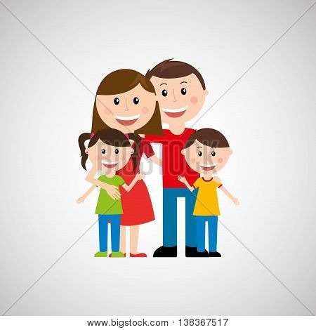 members of the family design, vector illustration eps10 graphic