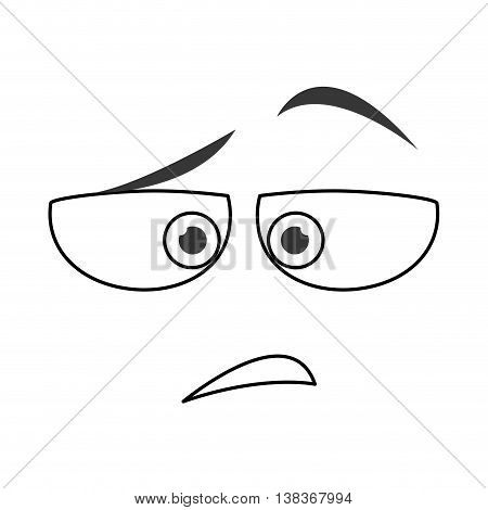 flat design disdain emoticon face icons vector illustration