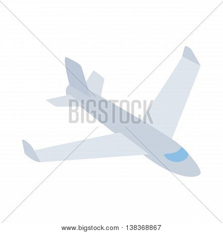 Big plane icon in isometric 3d style isolated on white background. Air transport symbol