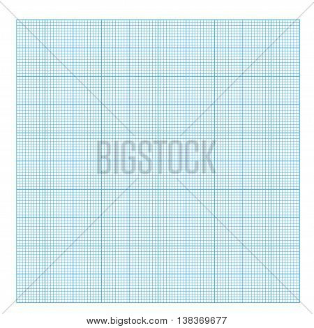 Square grid background. Blank millimeter. Vector. Blue line.
